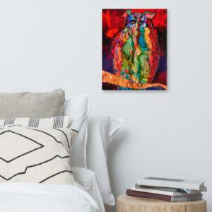 Owl Canvas Print Environment Bedroom 16x20